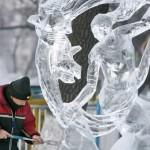 Festival y esculturas de hielo en Harbin