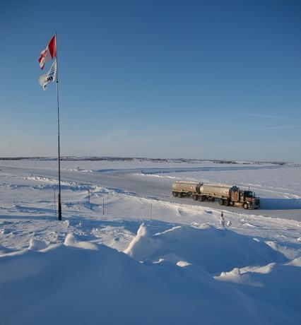 Autopista en el Artico