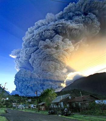 Volcan Chaiten en Chile
