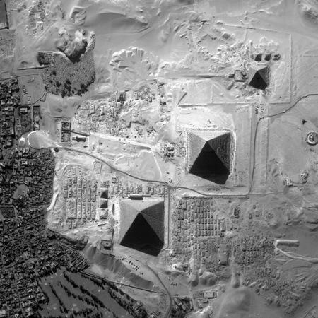 Pirámides de Gizeh desde el aire