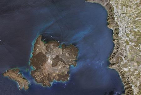Santorini desde el aire