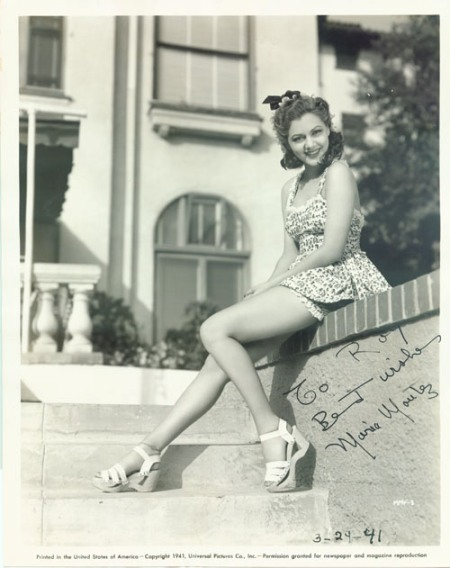 Maria Montez de jovencita