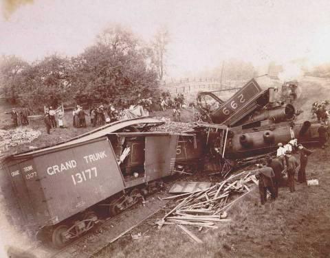 Tren en problemas