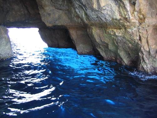 Cueva azul en Capri