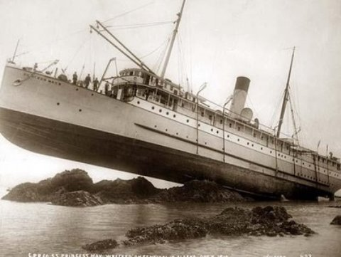 Barco encallado