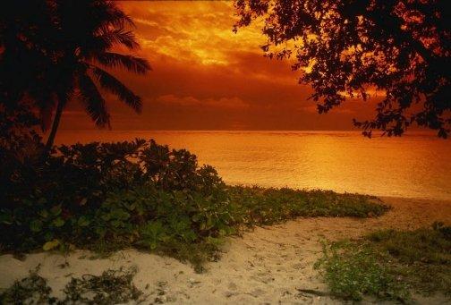 Atardece en la playa
