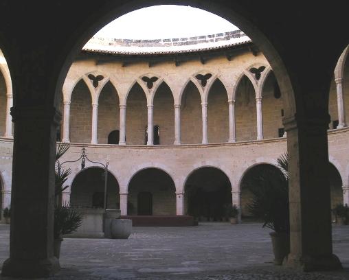 Dentro del Castillo Bellver