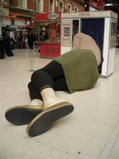 Durmiendo en la Estación Victoria