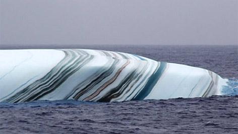 Iceberg de fascinantes colores