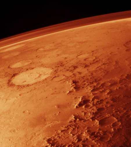 Superficie y atmósfera en Marte