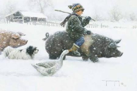 Escenas en la nieve, Navidad ideal