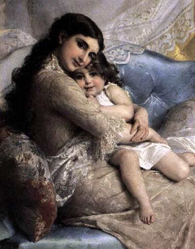 Retrato de una madre con su hija