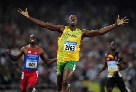 carrera de Usain Bolt