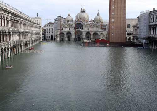 Fotos de las inundaciones de Venecia