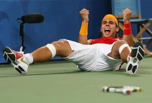 Rafael Nadal pillado por Nick Laham