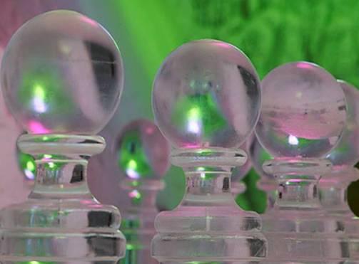 bolas de cristal en hielo