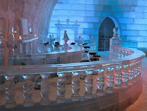 decoración en hielo
