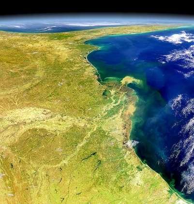 Golfo de México desde el espacio