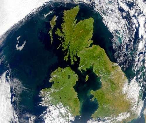 Gran Bretaña desde el espacio