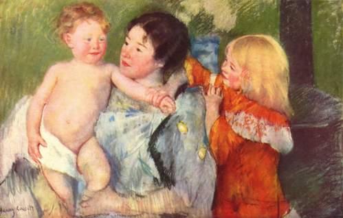 Mary Cassatt, obras de bella luz impresionista