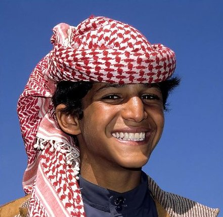sonrisa de niño arabe