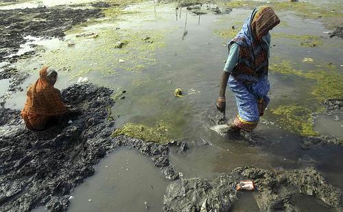 Agua contaminada en la India
