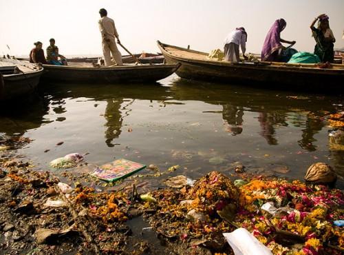 rio Ganges sucio