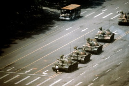 Foto histórica de la Matanza de Tiananmen