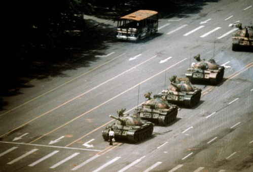 Foto historica de la Matanza de Tiananmen