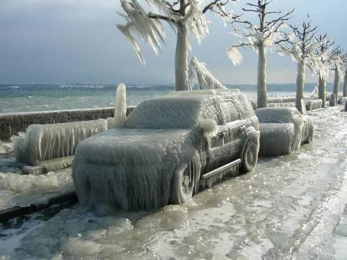 Coches congelados