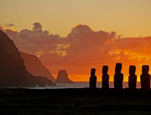 Atardece en Rapa Nui