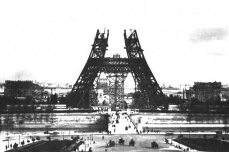 Fotos historicas: la construccion de la Torre Eiffel