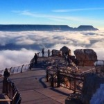 Mar de nubes sobre el Gran Cañón
