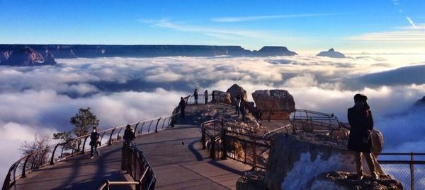 Foto de nubes en Gran Cañon