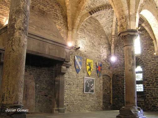 Interior del castillo de Gravensteen