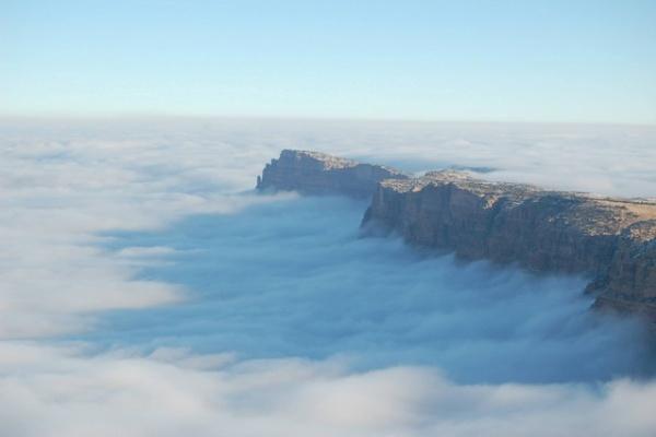 Mar de nubes en Gran Cañon