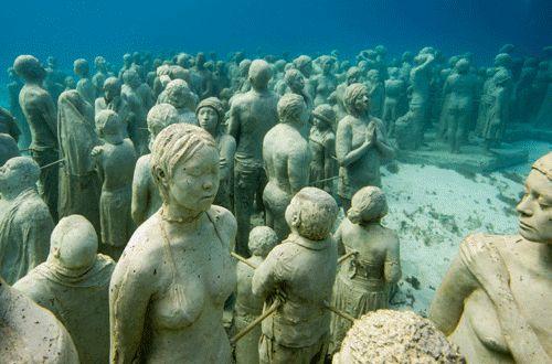 Museo bajo el agua en Mexico