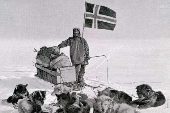 Roald Amundsen en el polo sur