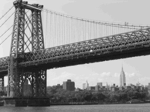 Sobre el Puente de Manhattan