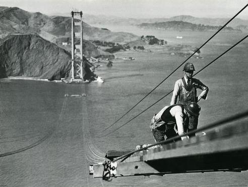 Trabajando en el Golden Gate