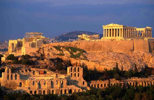 Atardecer en la Acropolis