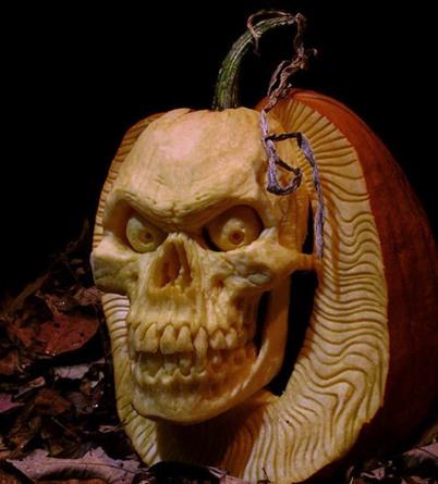 Calabaza de terror de Halloween