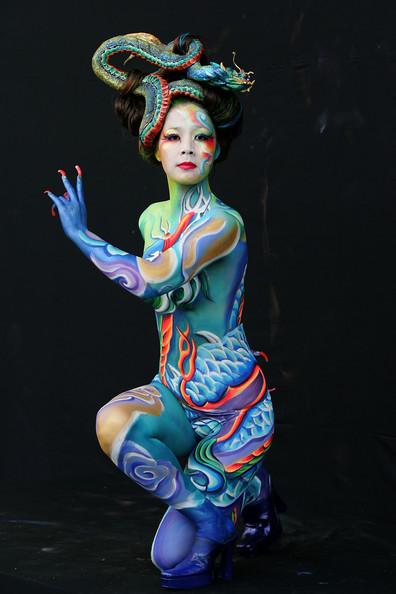 Arte corporal en maquillaje