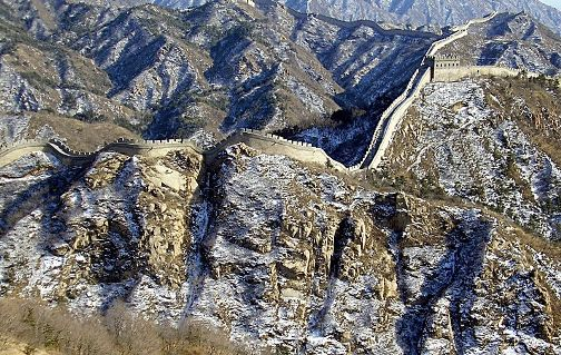 Gran Muralla China con nieve