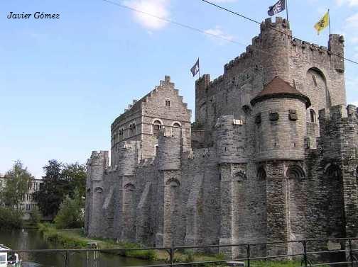 El castillo Gravensteen en Gante