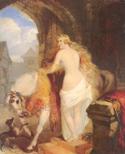 Lady Godiva por Marshall Claxton, 1850