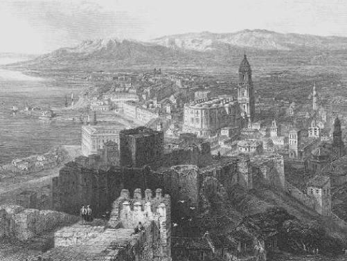 Malaga en 1836