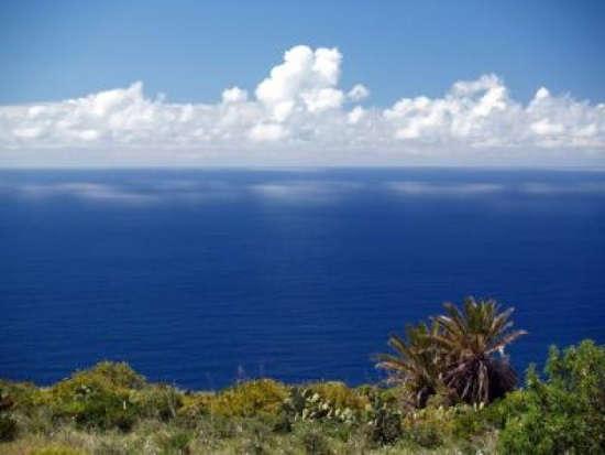 mar azul canario