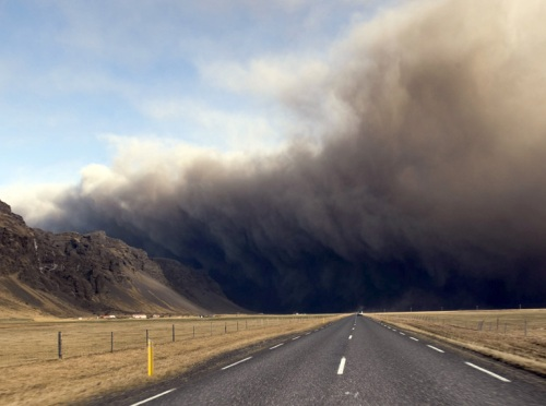 nube volcánica en Islandia 2010