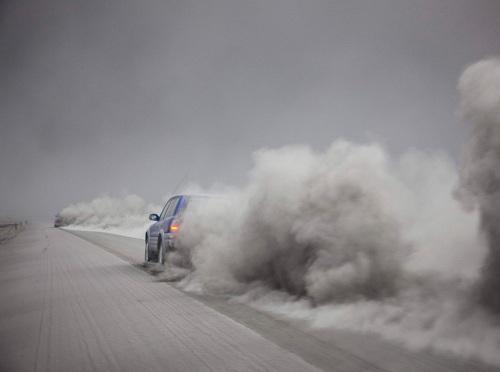 nube de ceniza volcánica en Islandia 2010